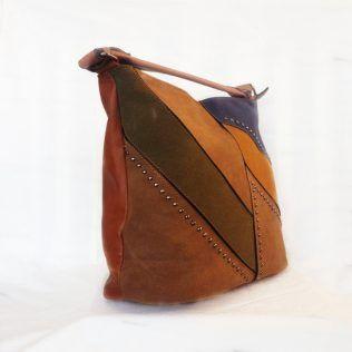 Bolso de hombro tricolor