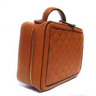 Bolso bandolera acolchado tipo maleta