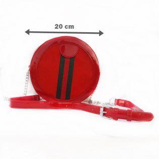 Bolso bandolera redonda (roja o blanca)