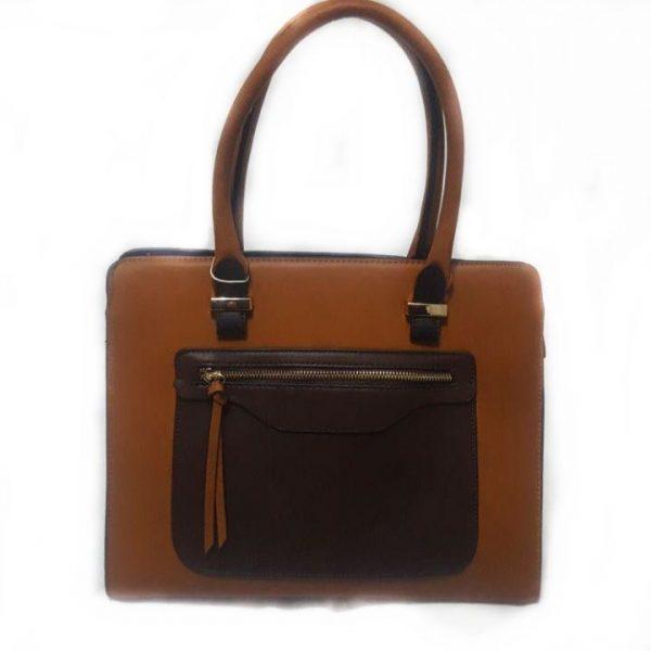 Bolso de mano colores en marrón, también bandolera.