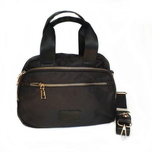 Bolso de mano y bandolera color negro. Modelo 200.